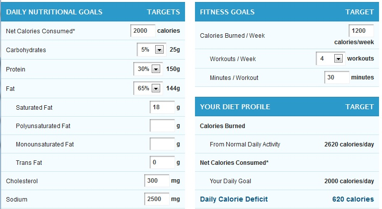 myfitnesspal how to change calorie goal