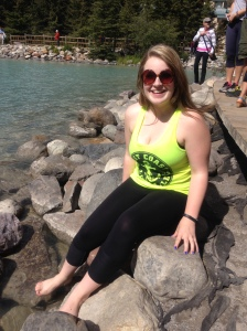 Marissa dipped her feet in the water to find out that it is absolutely freezing!