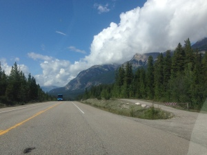 Amazing view on the drive into Jasper Village. This is when the weather started cooperating.