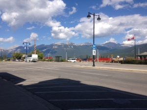 View from the mainstreet of Jasper
