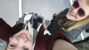 I really like this attempt to show us and the glass floor.