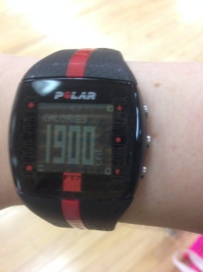 Look at all those calories burned and the class wasn't even over at this point