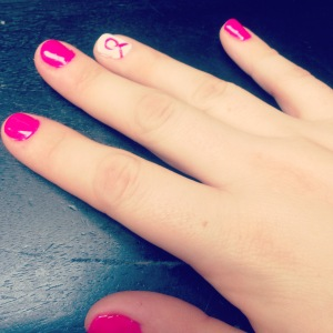 My Nails in support of Breast Cancer Awareness month